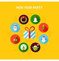New year party infographic vector