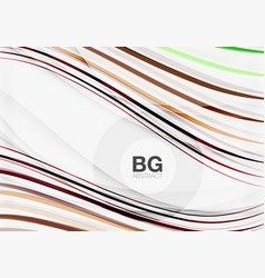 Colorful stripes on grey vector