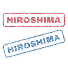 Hiroshima textile stamps vector