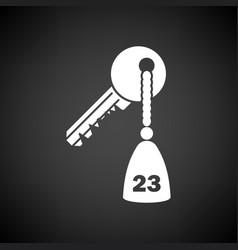 Hotel room key icon vector