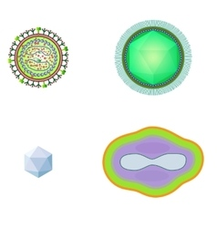 Bacteria and virus cells isolated vector