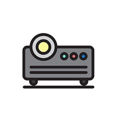 Projector icon in modern and cartoon style vector