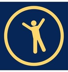 Joy icon vector