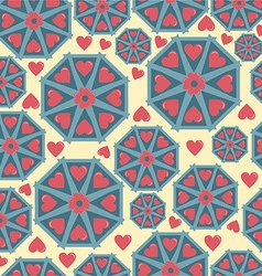 Pattern abstraction and hearts vector