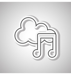 Music note icon design vector
