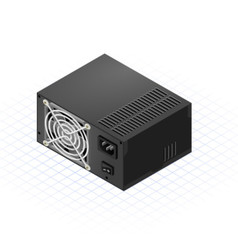 Isometric power supply vector