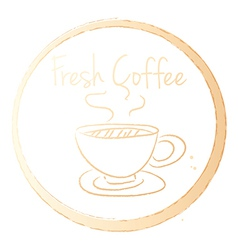 A fresh coffee vector image vector image