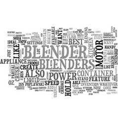 A partial list of the best blenders text word vector
