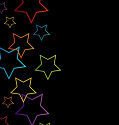 Background with colorful stars vector