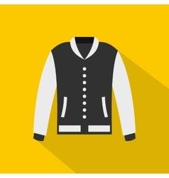Baseball jacket icon flat style vector image