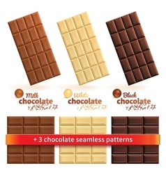 Big collection of chocolate vector