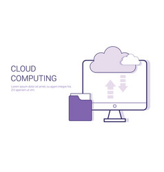 cloud computing service online database business vector image vector image