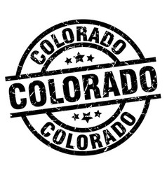 Colorado black round grunge stamp vector