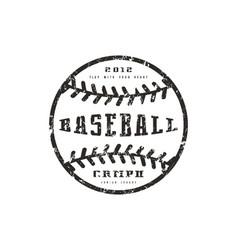 emblem baseball championship vector image vector image