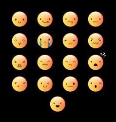 Emoticons round yellow 7 vector
