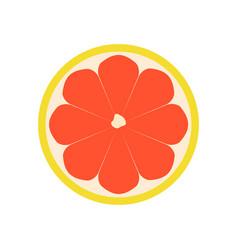 Grapefruit icon flat vector