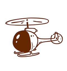 Hand Drawn Helicopter vector image vector image