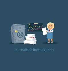 journalistic investigation concept vector image vector image