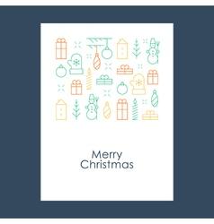 New year christmas pattern xmas minimalistic vector