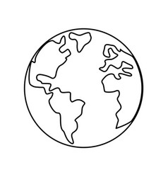 Planet earth isolated vector