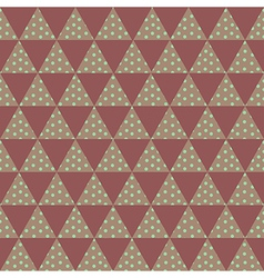 red triangle pattern vector image vector image