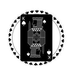 Round shape of playing card king character poker vector