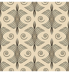 Seamless antique pattern ornament geometric art vector image vector image