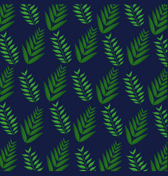 Tropical leaves foliage frond plant botanical blue vector
