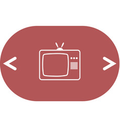 Tv icon flat design style vector