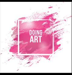 Watercolor-pink-brush vector