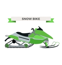 Winter snow motorcycle vector