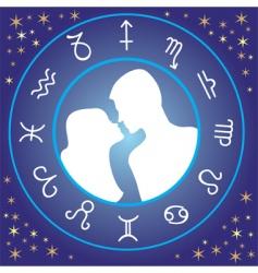 zodiac love vector image vector image