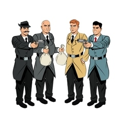 Detective and thief man cartoon design vector