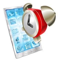 alarm clock icon phone concept vector image