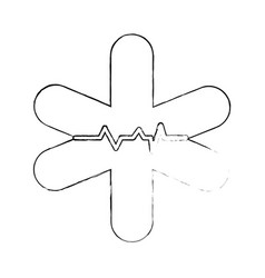 Medical symbol isolated vector