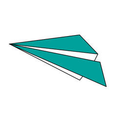 Flight paper plane vector