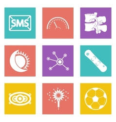 Color icons for web design set 40 vector