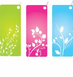 Floral badges vector