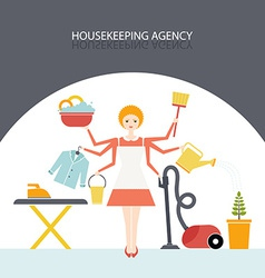 Housekeeping agency vector