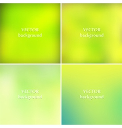 Abstract lime green colors blurred backgrounds vector