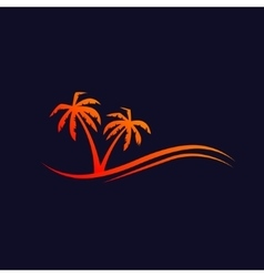 Palms background vector