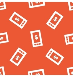 Orange dollar on screen pattern vector