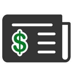 Financial news icon from commerce set vector