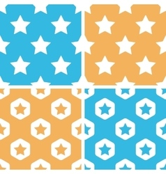Star pattern set colored vector
