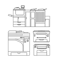 Outlines printer vector