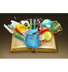School and book background vector