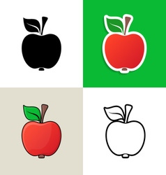 Apple design elements vector