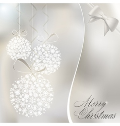 abstract christmas balls vector image