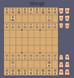 shogi japanese chess vector image