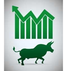 Stock exchange icon design vector image